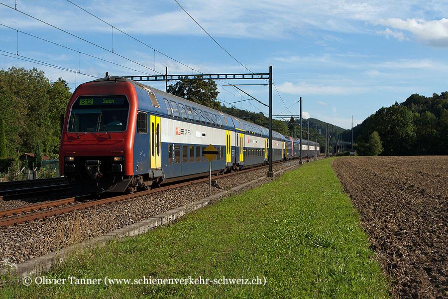 Re 450 Pendelzug mit Re 450 033 und Re 450 042 als S12 Brugg – Baden – Zürich HB – Zürich Stadelhofen – Winterthur – Winterthur – Winterthur Seen