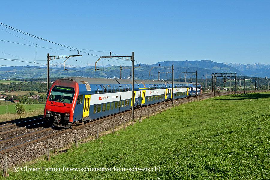 Re 450 Pendelzug mit Re 450 044 als Extrazug Zug – Rotkreuz – Wohlen – Lenzburg