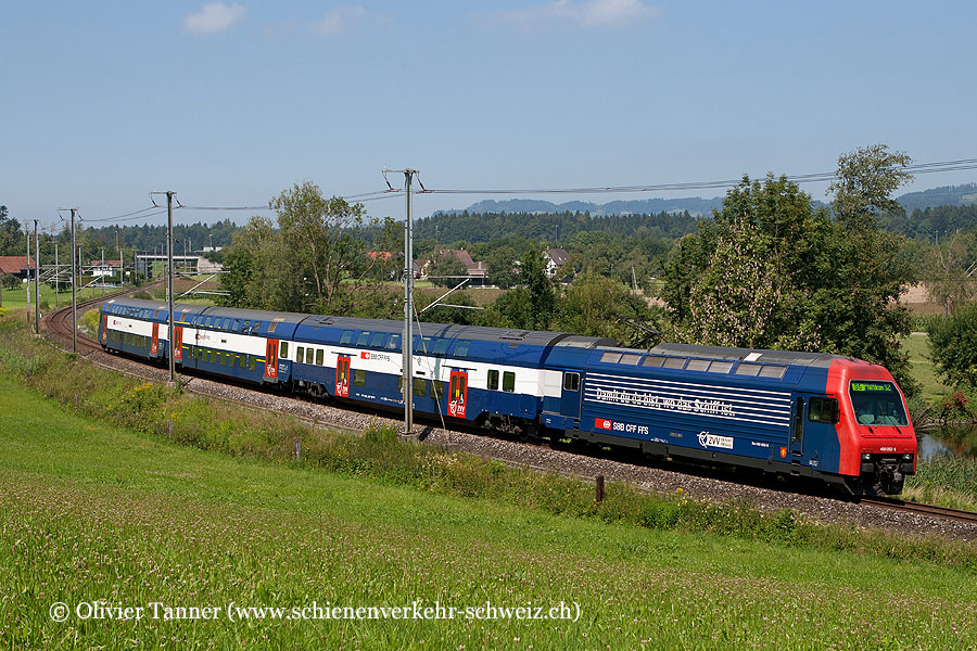 Re 450 052 mit NDW als S5 Rafz – Zürich HB – Wetzikon – Pfäffikon SZ