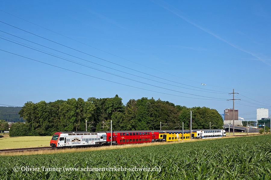 Re 450 060 ''Lückenlos verbunden. Dank ZVV.'' als S14 Zürich HB – Hinwil