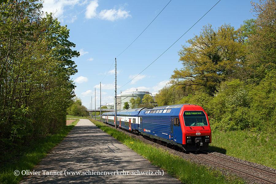 Re 450 091 als S15 Niederweningen – Zürich HB – Wetzikon – Rapperswil