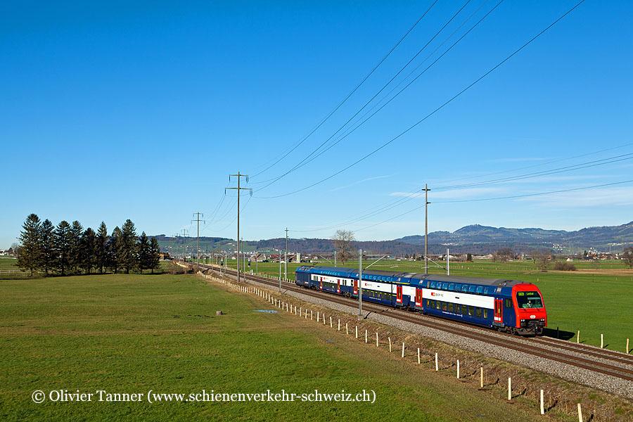 DPZ Plus mit Re 450 100 als S25 Zürich HB – Linthal