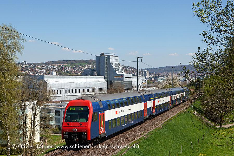 DPZ Plus mit Re 450 106 als S9 Uster – Zürich HB – Zug