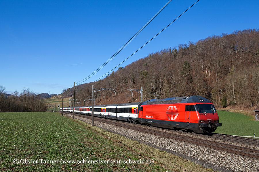 Re 460 005 mit EC Hamburg-Altona – Basel – Zürich