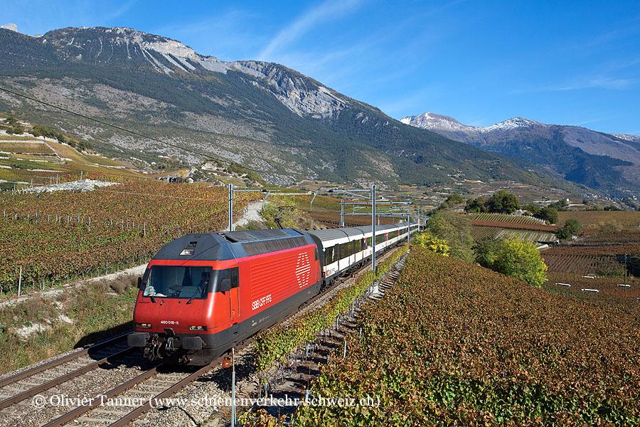 Re 460 018 mit IR Brig – Genève Aéroport