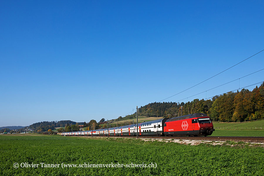Re 460 028 mit IC1 Genève Aéroport – Bern – Zürich – St. Gallen