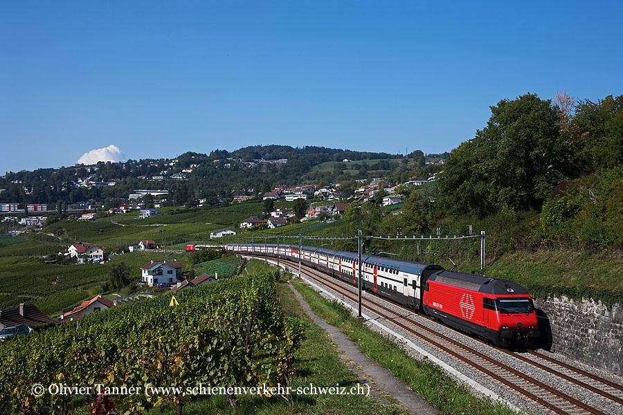 Re 460 059 und Re 460 005 mit IC1 Genève Aéroport – Bern – Zürich – St. Gallen