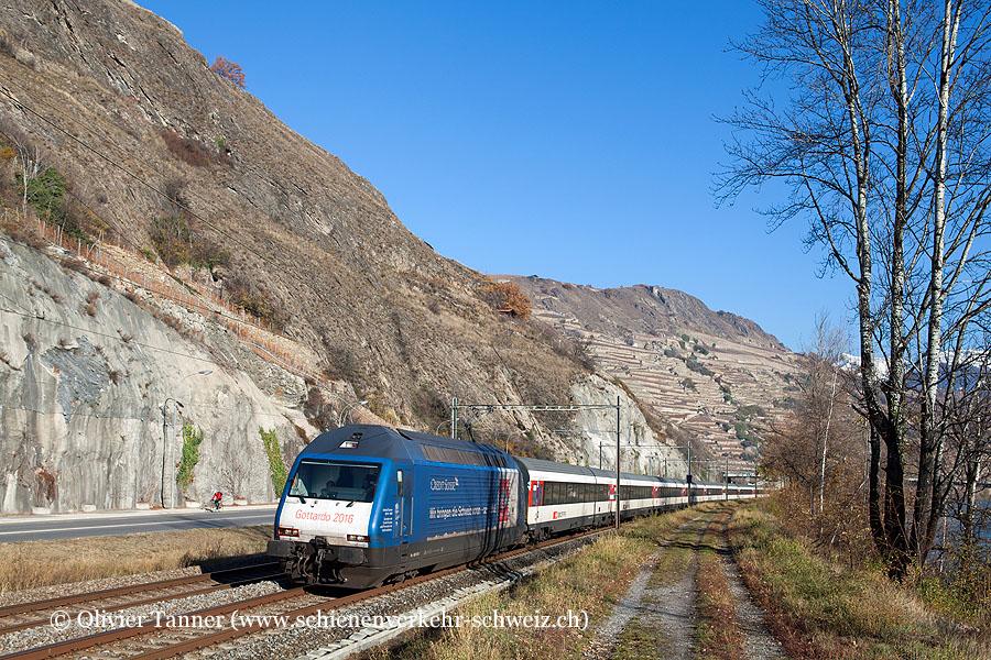Re 460 079 ''Credit Suisse'' mit IR Brig – Genève Aéroport