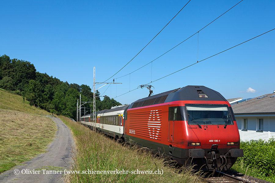 Re 460 100 mit umgeleitetem Gotthard-IR