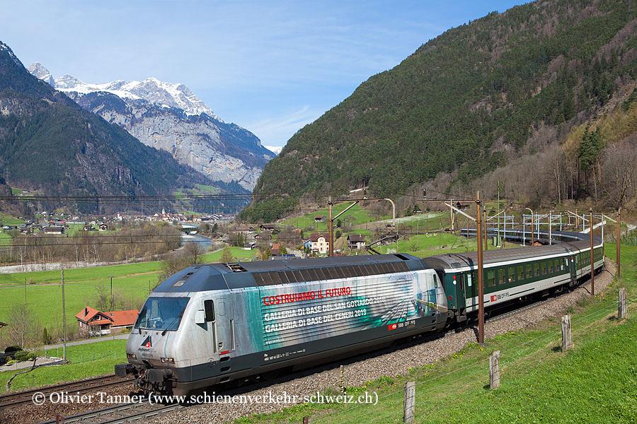 Re 460 107 ''AlpTransit'' mit Gotthard-IR