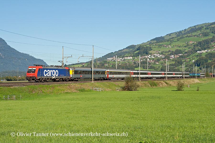 Re 484 020 mit dem EC 15 Zürich – Lugano – Milano