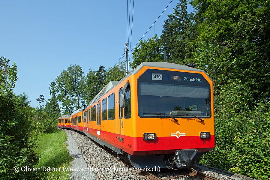 Be 556 522 und Be 556 521 als S10 Uetliberg – Zürich HB