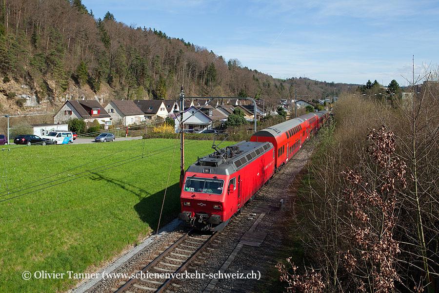 Re-Pendelzug mit Re 456 547 als S4 Langnau-Gattikon – Zürich HB