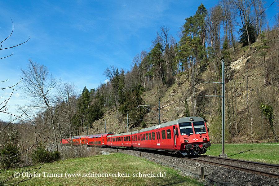 Re-Pendelzug als Leerzug nach Sihlwald