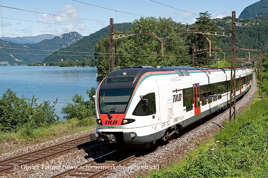 RABe 524 003 als S10 Castione-Arbedo – Bellinzona – Chiasso – Albate-Camerlata