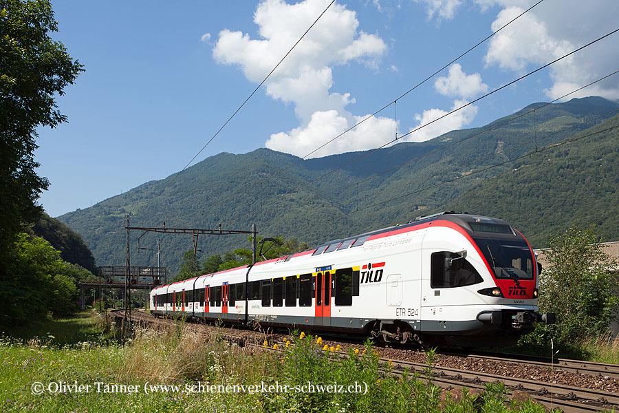 RABe 524 012 als S10 Chiasso – Bellinzona – Biasca
