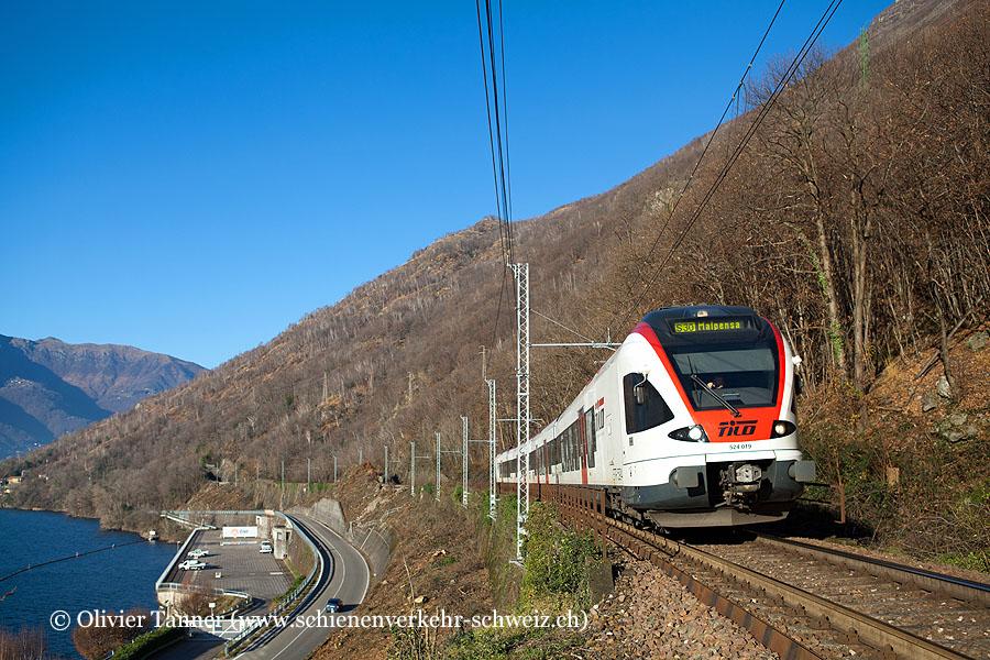 RABe 524 019 als S30 Cadenazzo – Luino – Malpensa Aeroporto