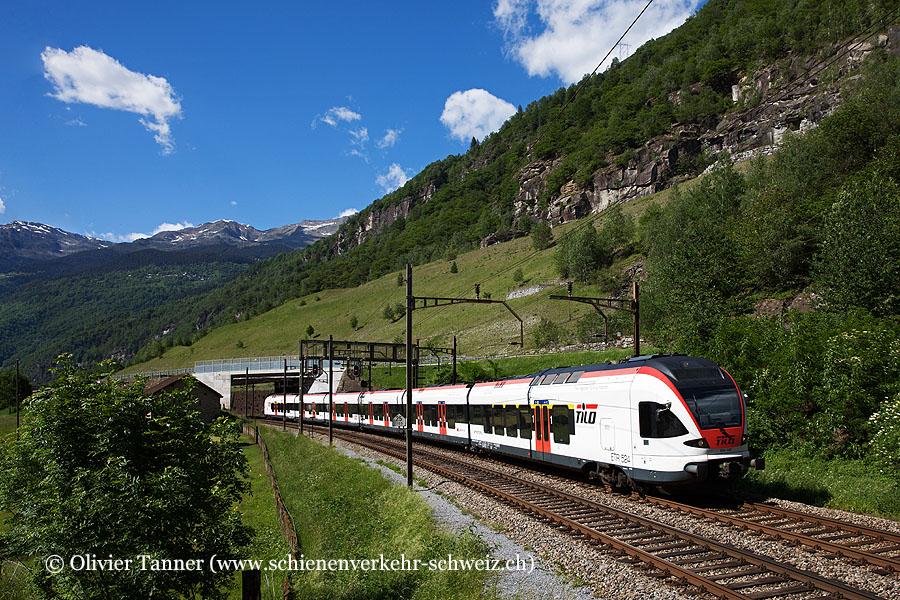 RABe 524 109 als RE Erstfeld – Göschenen – Airolo – Biasca – Bellinzona – Chiasso – Milano Centrale