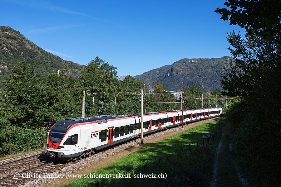 RABe 524 111 als S10 Bellinzona – Chiasso