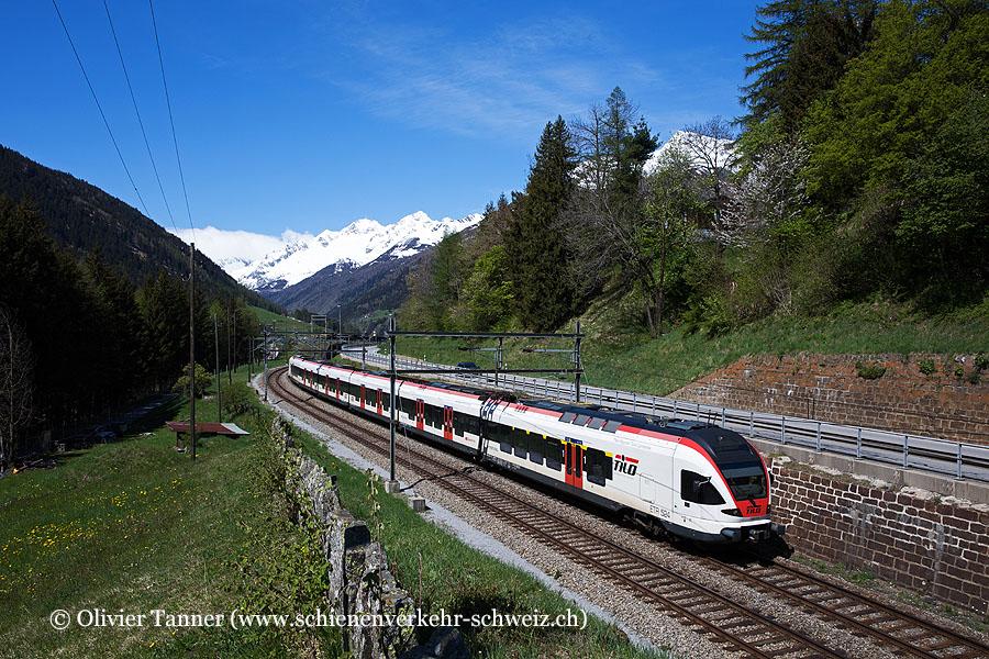 RABe 524 111 als RE Erstfeld – Göschenen – Airolo – Biasca – Bellinzona – Chiasso