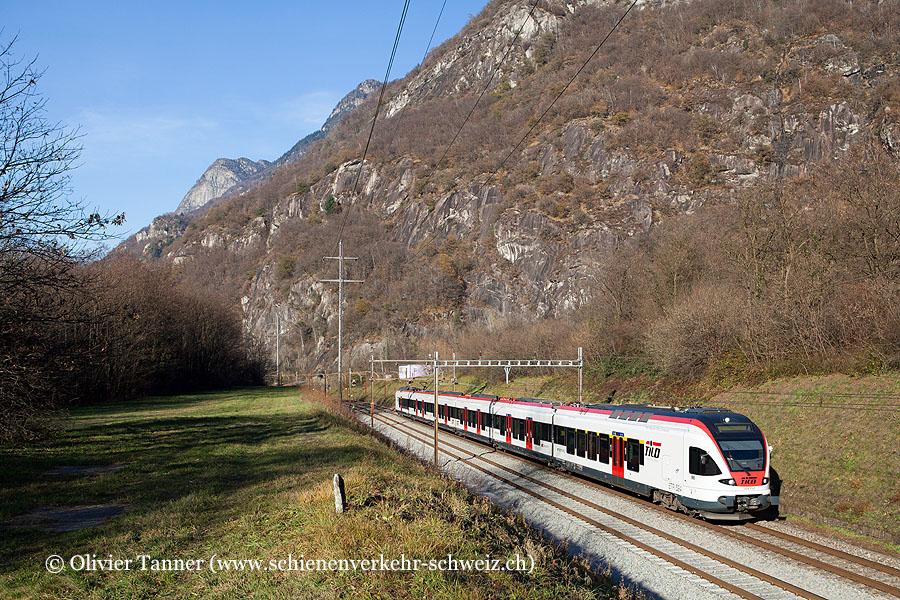RABe 524 112 als S10 Biasca – Bellinzona – Chiasso