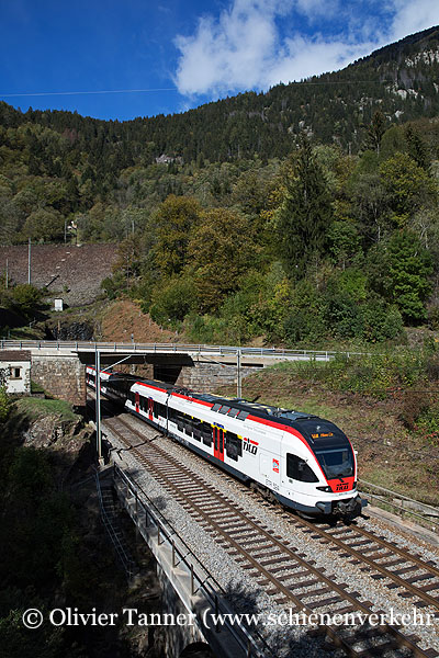 RABe 524 116 als RE Erstfeld – Göschenen – Airolo – Biasca – Bellinzona – Chiasso – Milano Centrale