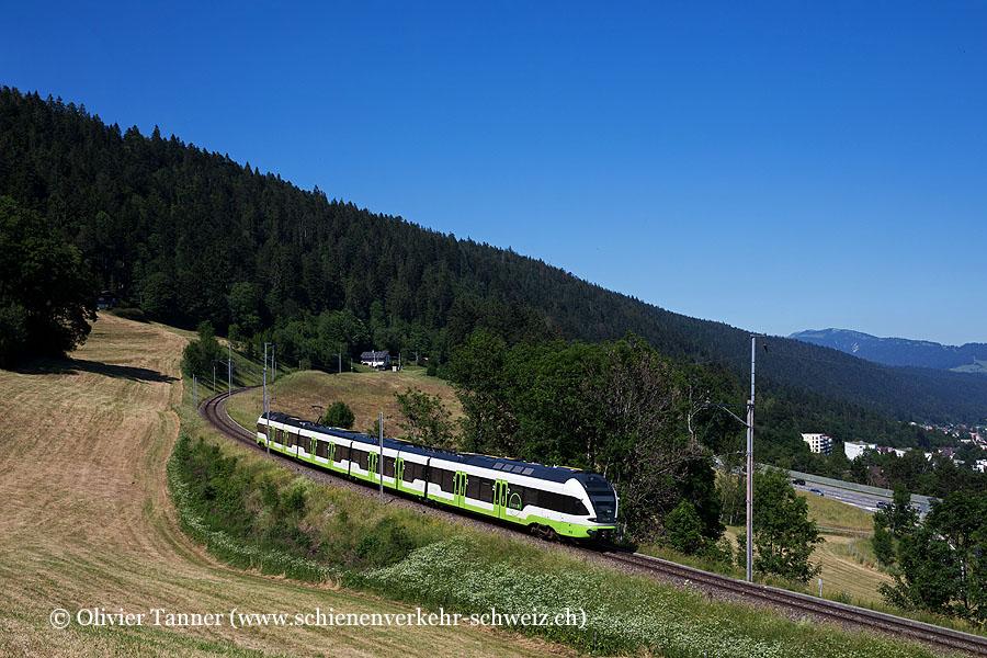 RABe 523 076 als RegioExpress Le Locle – Neuchâtel