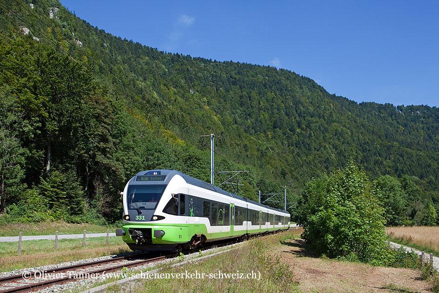 RABe 527 331 als Regio Neuchâtel – Buttes
