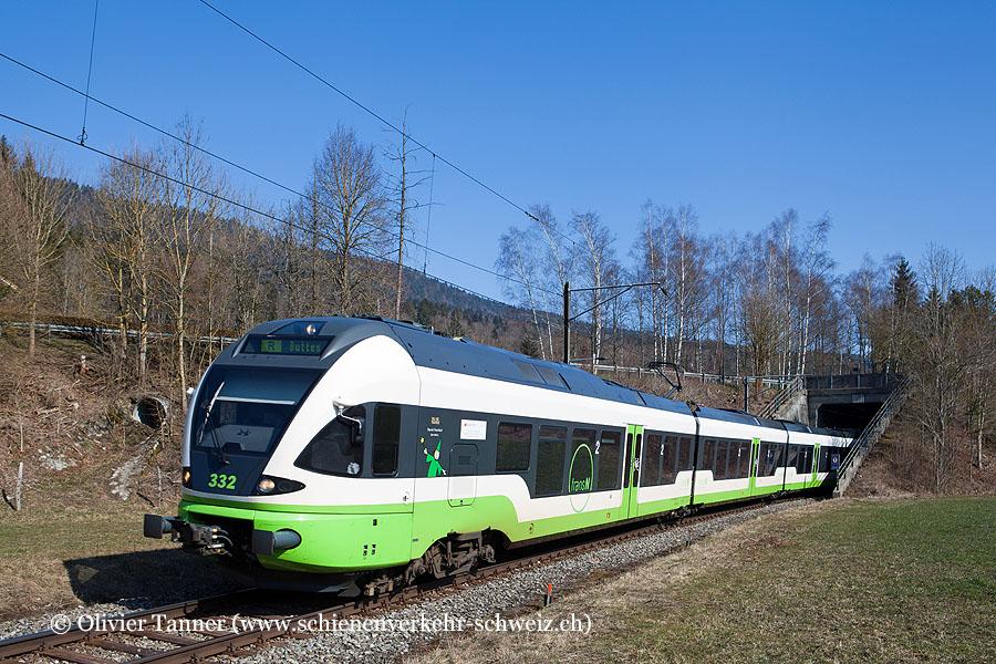 RABe 527 332 als Regio Neuchâtel – Buttes