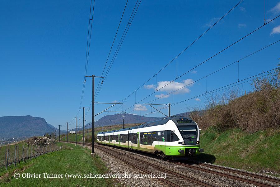 RABe 527 333 als Regio Buttes – Neuchâtel