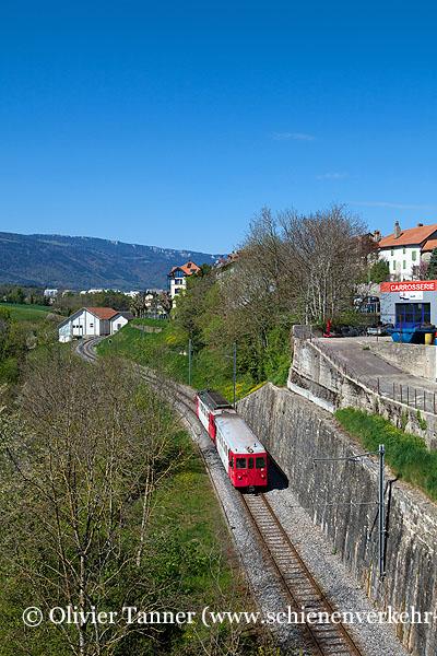 BDe 4/4 15 als Regionalzug Orbe – Chavornay