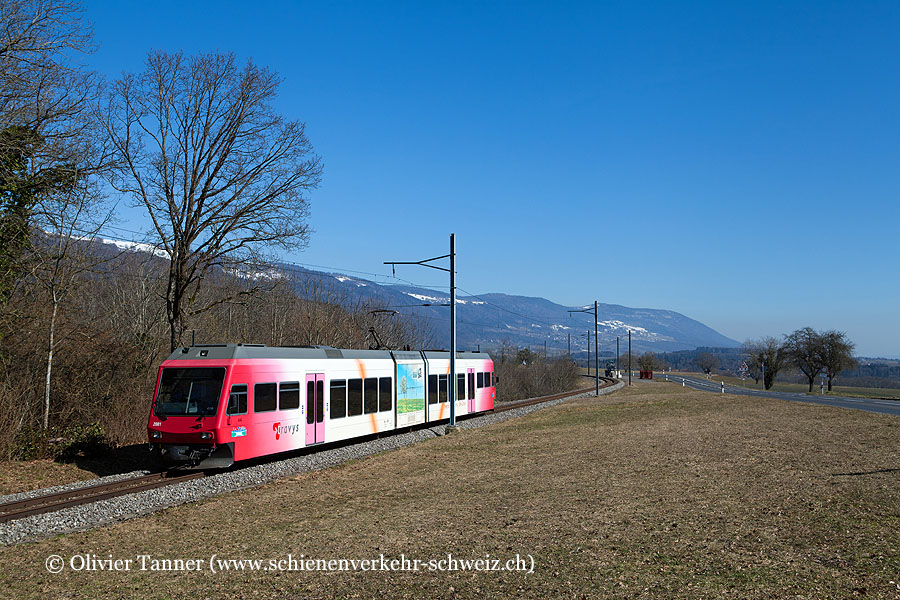 Be 2/6 2001 als Regionalzug Ste-Croix – Yverdon-les-Bains