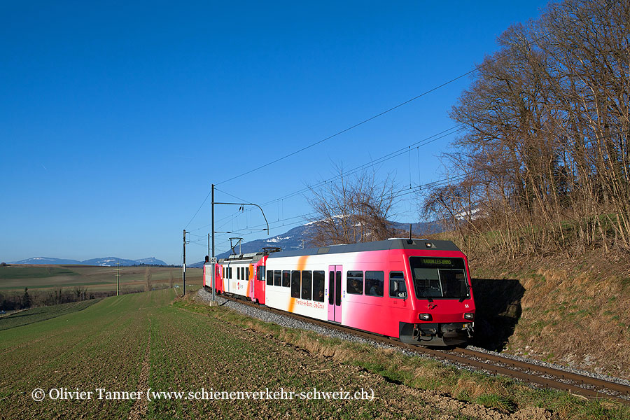 Be 4/4 1 als Regionalzug Ste-Croix – Yverdon-les-Bains