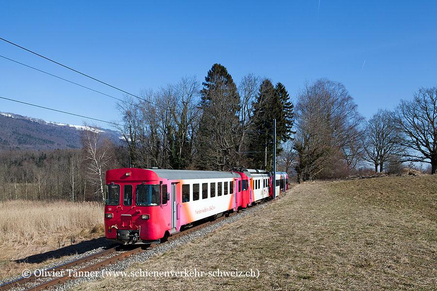 Be 4/4 1 als Regionalzug Yverdon-les-Bains – Ste-Croix