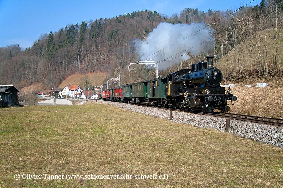 Ec 3/5 3 anlässlich der Fahrt ''Winterdampf ins Glarnerland''