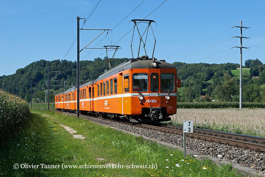 Be 4/4 13 und Be 4/4 10 als S14 Schöftland – Aarau – Menziken