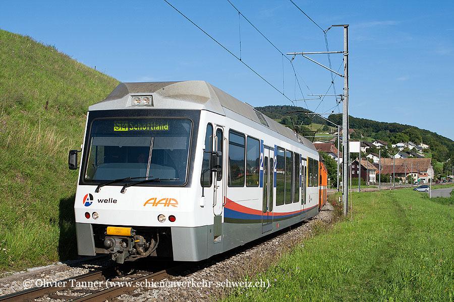 Pendenlzug mit Be 4/4 25 und Be 4/4 24 als S14 Menziken – Aarau – Schöftland