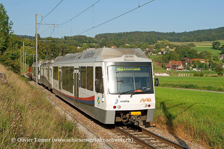 Pendenlzug mit Be 4/4 23 und Be 4/4 21 als S14 Menziken – Aarau – Schöftland