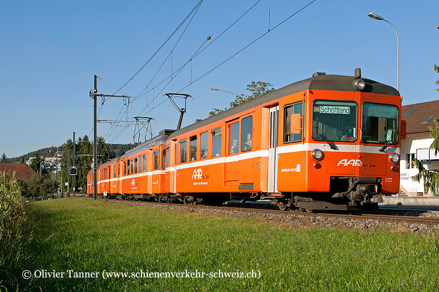 Pendenlzug mit Be 4/4 10 und Be 4/4 13 als S14 Menziken – Aarau – Schöftland