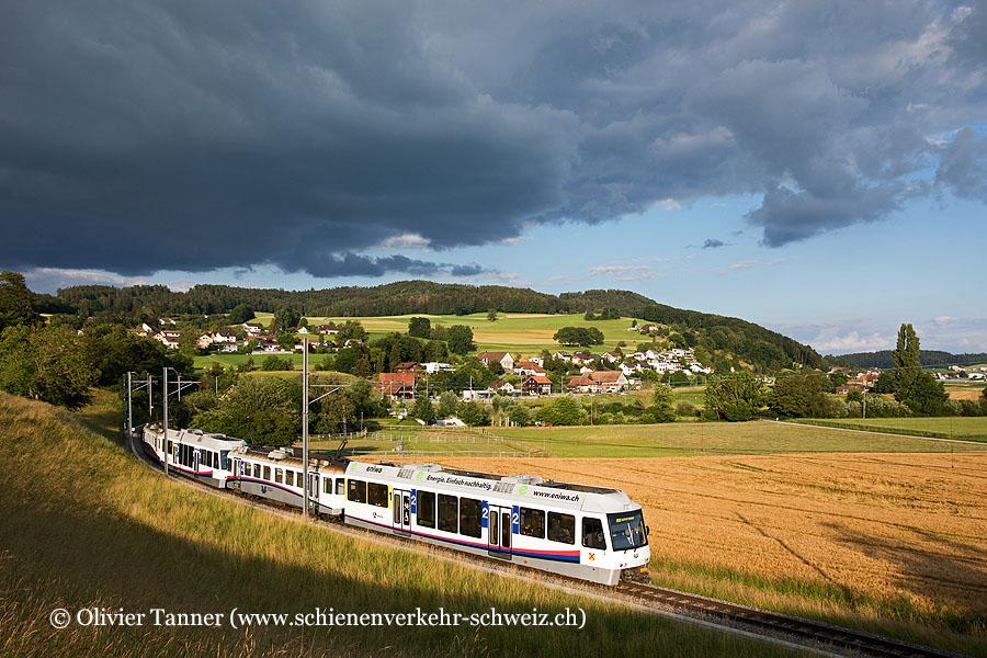 Pendenlzug mit Be 4/4 17 und Be 4/4 16 als S14 Menziken – Aarau – Schöftland
