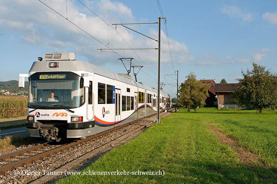 S14 Menziken – Aarau – Schöftland mit Be 4/8 39 und Be 4/8 32