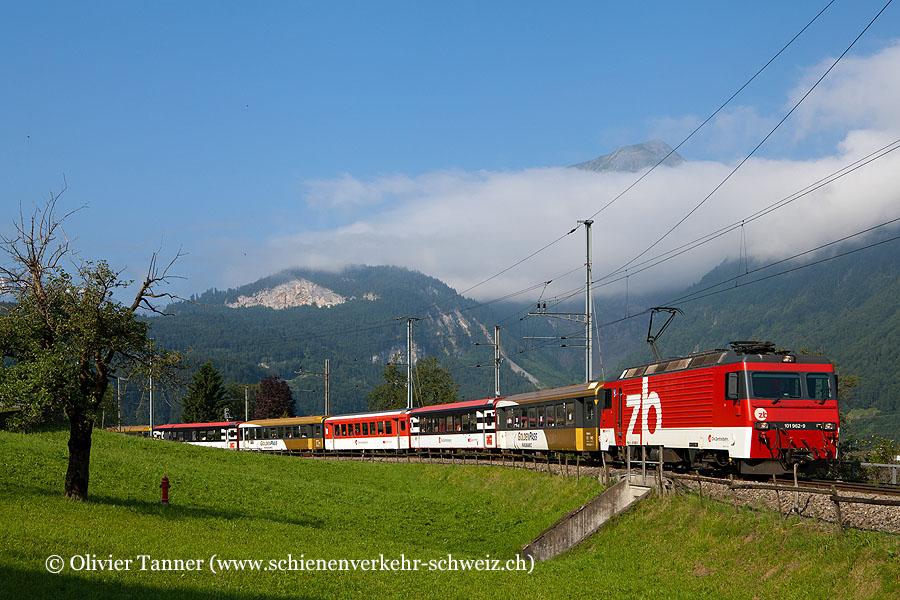 HGe 101 962 mit IR Interlaken Ost – Luzern