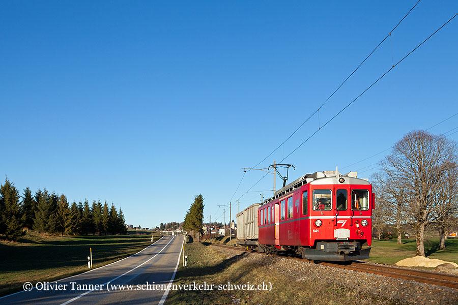 ABef 4/4 641 mit dem Müll-Güterzug