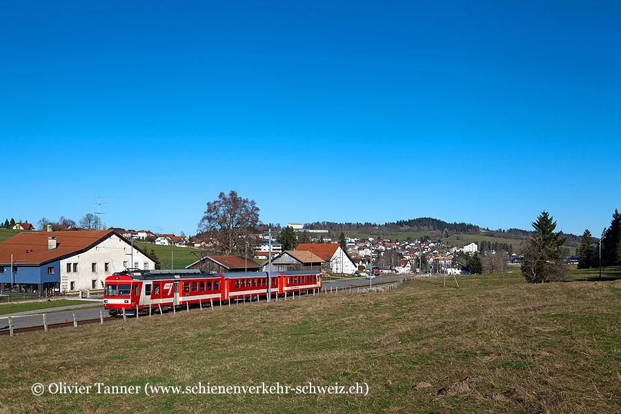 BDe 4/4'' 611 auf dem Weg nach La Chaux-de-Fonds