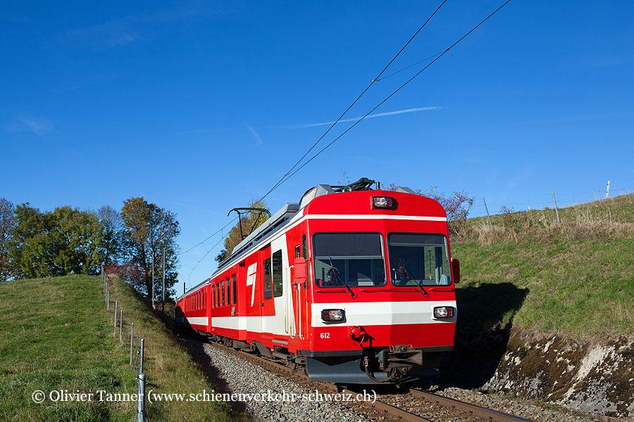 BDe 4/4'' 612 auf dem Weg nach La Chaux-de-Fonds
