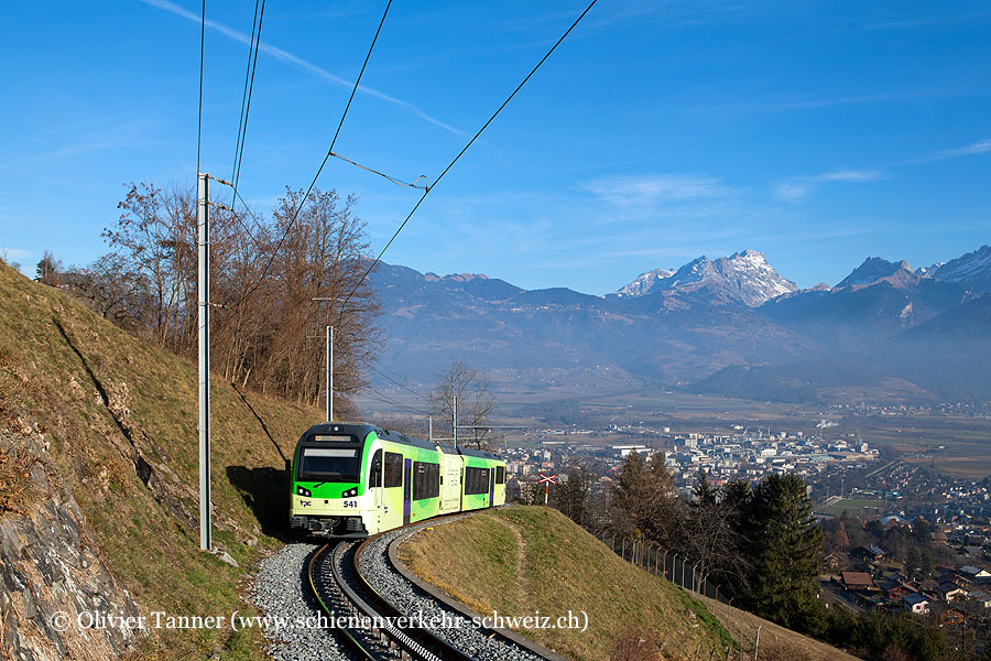 Beh 2/6 541 als Regio Aigle – Monthey – Champéry