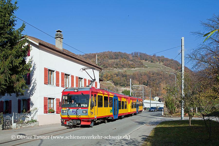 Beh 4/8 93 als Regio Villars-sur-Ollon – Bex