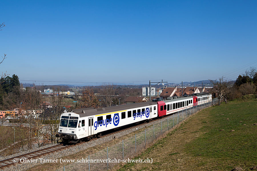 RBDe 567 182 als S21 Fribourg – Kerzers